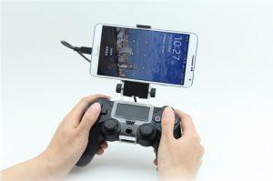 پایه نگه دارنده گوشی موبایل برای اتصال به دسته PS4 سامسونگ ، هواووی ، ال جی ، اچ تی سی Samsung , huawee , LG , htc(8)