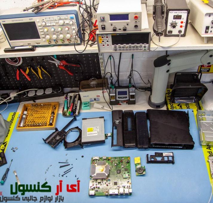میز تعمیرات دفتر تعمیرات تخصصی نسل هشتم کنسول ایکس باکس وان XBOX One , و پلی استیشن 4 PLAYSTATION 4